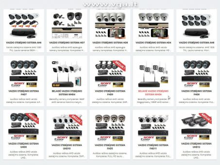 Skelbimas - Aukštos raiškos vaizdo stebėjimo sistemos