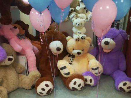 Skelbimas - Didžiuliai meškinai bei balionai