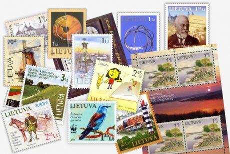Į prekybą grįžta lito nominalo pašto ženklai