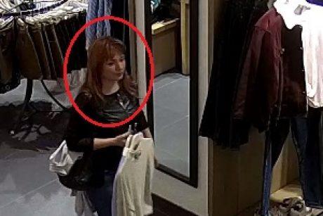 """""""Akropolyje"""" pavogtas mobilusis telefonas (policija ieško šios moters)"""
