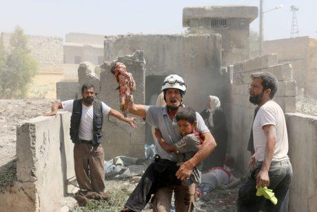 Per turkų bombardavimą Sirijoje žuvo mažiausiai 35 civiliai gyventojai