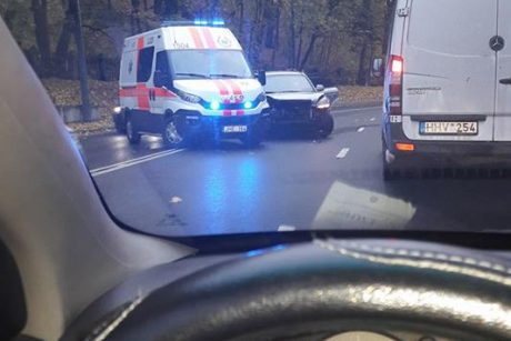 Ant Parodos kalno moters vairuojamas automobilis rėžėsi į atitvarus