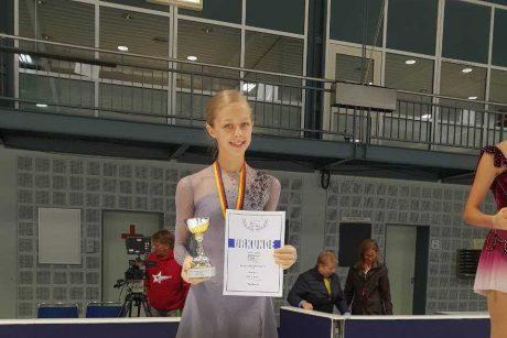 Čiuožėja P. Ramanauskaitė Vokietijoje užėmė antrąją vietą