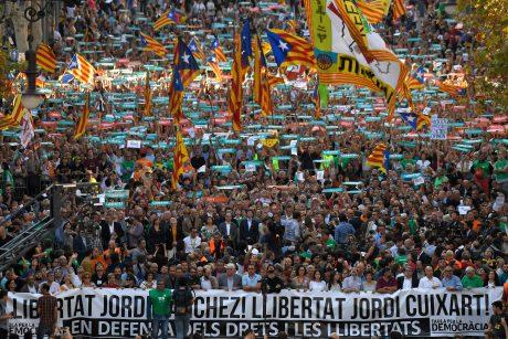 Milžiniškas protestas Barselonoje
