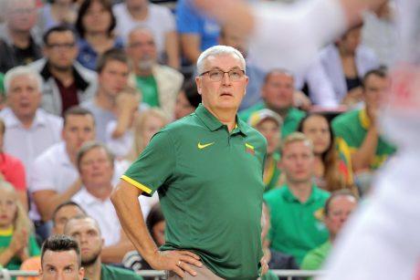 Krepšinio federacija įkalbinės J. Kazlauską likti trenerio poste