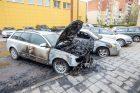 Dubingių gatvėje apdegė du automobiliai