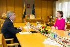 Naujoji LRT vadovė susitiko su Seimo pirmininku
