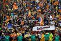Briuselyje 45 tūkst. žmonių susirinko pareikšti paramos katalonams