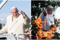 Lietuvoje viešėjusiam popiežiui – pagonių godos