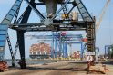 Tendencija: Klaipėdos uoste prasidėjo įspūdinga konteinerių krova, kuri, tikimasi, tęsis ir toliau.