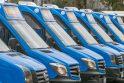Dabartis: nauji privežamieji autobusai Klaipėdoje, 2017-ųjų spalis. Naujieji maršrutiniai taksi taip pat bus nudažyti Klaipėdos viešojo transporto spalvomis ir paženklinti taksi ženklu.