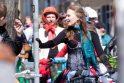 Vilniečius pralinksmino meninių dviračių paradas