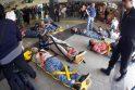 Argentinoje traukinys rėžėsi į užtvarą, yra žuvusiųjų
