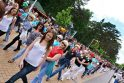 Linijiniai šokiai Palangoje: susirinko rekordinis šokėjų skaičius