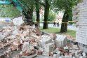 Griuvo klaipėdietiška Berlyno siena