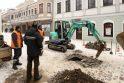 Šaltis vėl laužo vamzdžius: be vandens buvo likusi Vilniaus gatvė