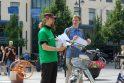 Dviratininkų problemoms išsakyti - menas iš dviračių