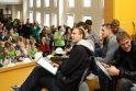 Žalgiriečiams – moksleivių dovanos ir šmaikštūs klausimai