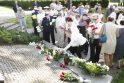 """Skulptūrų parke pagerbta žuvusi laivo """"Linkuva"""" įgula"""