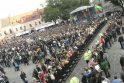 Lietuvos rinktinės krepšininkus Kaune sutiko tūkstantinė minia (papildyta)