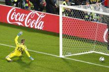 Europos futbolo pirmenybėse – čempionų titulą ginančių ispanų pralaimėjimas