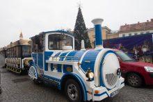 Vilniečiai skundžiasi: kalėdiniame traukinuke nėra vietos!