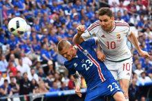 Islandijos ir Vengrijos futbolininkų mačas baigėsi lygiosiomis
