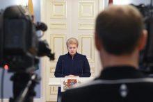 Prezidentė: atsakomybė dėl korupcijos Vyriausybėje tenka premjerui