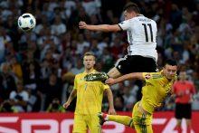 Pasaulio čempionė Vokietijos rinktinė nukovė Ukrainos futbolininkus