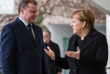 S. Skvernelis Vokietijoje susitiko su A. Merkel