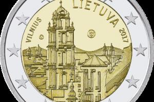 Į apyvartą bus išleistas milijonas Vilniui skirtų eurų monetų