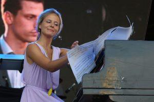 Jūros šventės koncertą atidarė su lietuviškos klasikos kūriniais