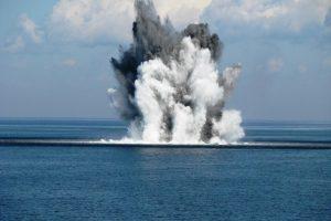Išminuotojai sunaikino netoli Klaipėdos uosto aptiktą karo laikų miną