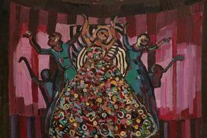 Parodoje – tapybos susidūrimas su teatru