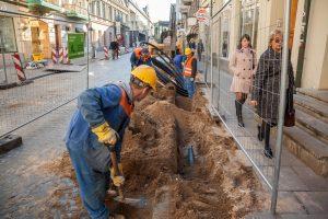 Vėl verda Vilniaus gatvės rekonstrukcijos darbai