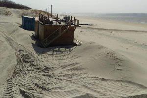 Užpustė Smiltynės paplūdimį
