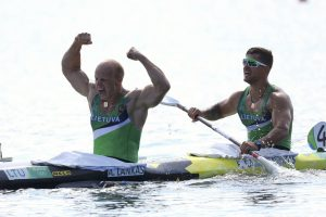 Olimpiniai prizininkai Trakuose kovos tarpusavyje