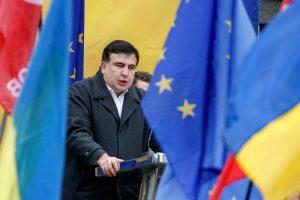 M. Saakašvilis ragina ukrainiečius sukilti prieš valdžią