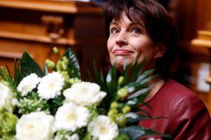 Šveicarijos prezidente vėl išrinkta D. Leuthard