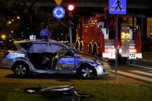 Varšuvoje į avariją pateko NATO generalinio sekretoriaus kortežo automobilis