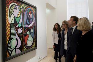 Prancūzijos prezidentas atidarė didelę P. Picasso parodą