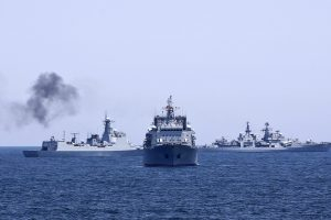 Rusija Viduržemio jūros rytuose rengia karinio laivyno pratybas
