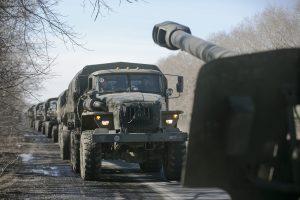 Rytų Ukrainos separatistai skelbia pradėję sunkiosios ginkluotės atitraukimą