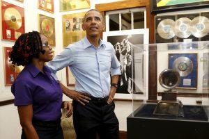 JAV prezidentas B. Obama – Jamaikoje ir pas B. Marley