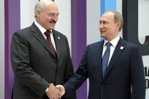 Rusijos lyderis pasveikino Baltarusijos prezidentu perrinktą A. Lukašenką