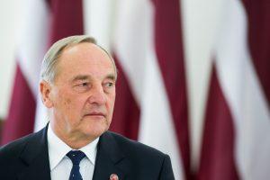Latvijos prezidentas A. Bėrzinis sako nesieksiantis antrosios kadencijos