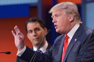 JAV magnatas D. Trumpas – televizijos debatų dėmesio centre