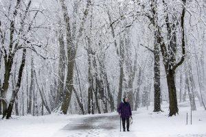 Per Velykas į Kauną sugrįžo žiema