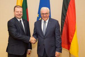 Premjeras: esame dėkingi Vokietijai už indėlį stiprinant mūsų saugumą