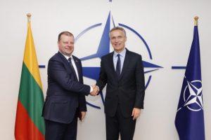 S. Skvernelis ragina NATO stiprinti Baltijos šalių oro gynybą